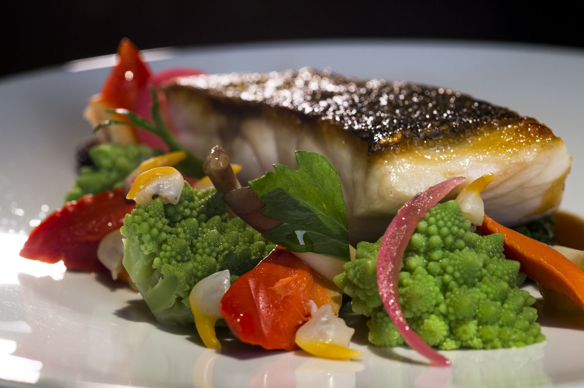 Sea Bass with Shellfish